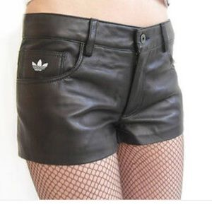 Limited Edition Adidas/fafi Leather Shorts